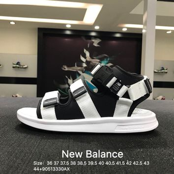 NB New Balance New Women Men's White Black Fashion Casual Sandals