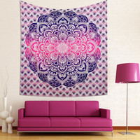 Large indian hippie tapestrys mandala wall tapestry Indian Wall Hanging Bohemian Hippie Bedspread Throw Decor