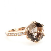 Zaza Ring With 18kt Red Gold Faceted Smoky Quartz And White Diamonds ¦ Cada ☼ mytheresa
