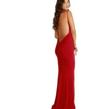 Isabella-Red Homecoming Dress