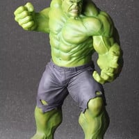 "CRAZY TOYS The Avengers Super Heroes Hulk PVC Action Figure Collectible Toy 15.7"" 40CM tall with retail color box"