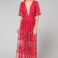 Open Road Maxi Dress (Red)