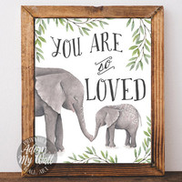 You are so loved baby shower gift printable nursery wall art decor, printable, decor, instant download, you are loved, 8x10