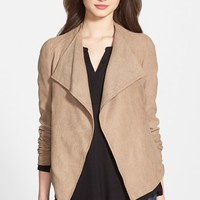 Women's KUT from the Kloth 'Vincent' Drape Front Faux Suede Jacket,