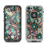 Skin Kit for LifeProof FRE iPhone 5S - Crazy Daisy Paisley - Sticker Decal