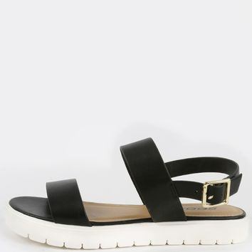 Soda Juniper Lug Sole Flatform Sandals