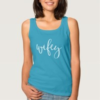 Typographic Wifey Tank Top