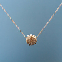 simple chic knot goldfilled chaine necklace