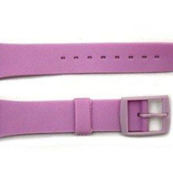 17mm Men's Light Purple Replacement  Band Strap fits SWATCH watches