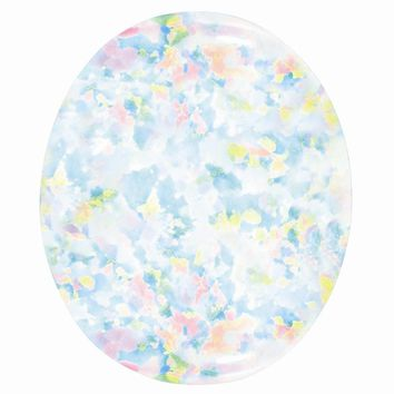 Loose Imitation Opal Gemstone White  8x6mm Oval Cabochon