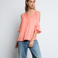 Blush Cold Shoulder Tunic