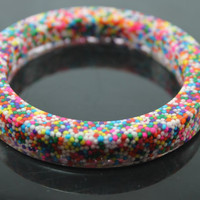 Yum Yummy Real Sprinkle Candy Resin Bangle by tranquilityy on Etsy