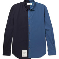 Maison Margiela - Two-Tone Washed Cotton-Poplin Shirt