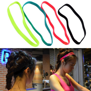 Women Men yoga hair bands Sports Headband Anti-slip Elastic Rubber Sweatband Football Yoga Running biking