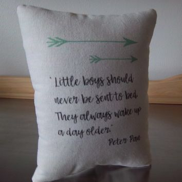 Peter Pan gift pillow for boy first birthday gift