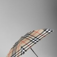 Burberry - COMPACT CHECK UMBRELLA