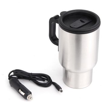 Car Based Heating Stainless Steel Cup