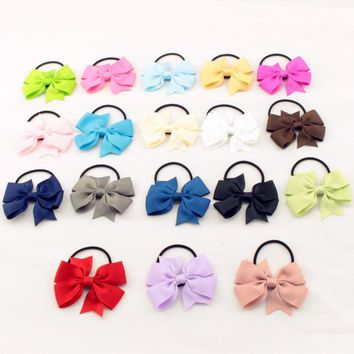 Cute Ribbon Bow Elastic Hair Bands Rope Hair Accessories Gift 20 Colors