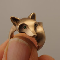 fox ring bronze by Michaeltatom on Etsy
