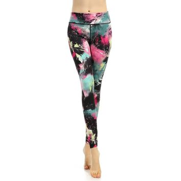 Digital Print Ankle Length Yoga Leggings