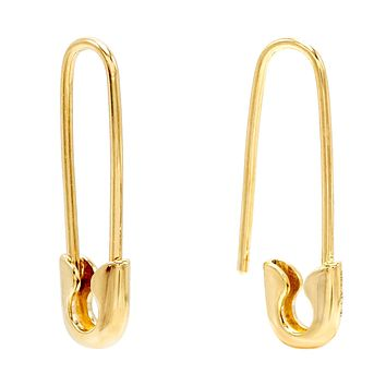 Safety Pin Earring 14K