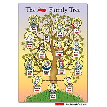 As Family Tree Unique Funny Birthday Card with Envelope - Greeting Cards - Free Shipping