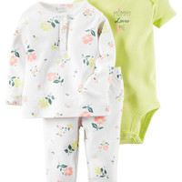 3-Piece Babysoft Bodysuit & Pant Set