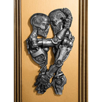 Park Avenue Collection Steampunk Sweethearts Plaque