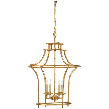 Bamboo Antique Gold Chandelier