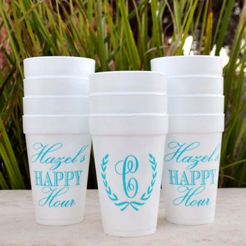 Personalized Foam Party Cups - Set of 100