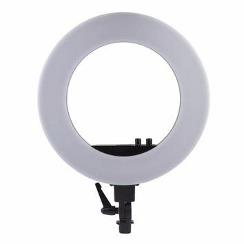18 Inch 5500K LED Ring Light Kit Light Dimmable For Camera Studio Recording Video With Phone Clip Carrying Bag EU Plug