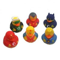 12 Super Hero Rubber Duck Party Favors by OTC