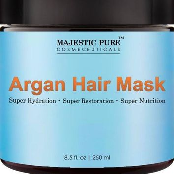 Majestic Pure Argan Oil Hair Mask For Hair Care Repair 8.5 Oz