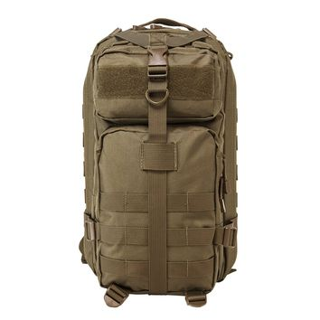 Small Backpack With Zippered Compartment of 669 Cu. In. Of Space - Tan