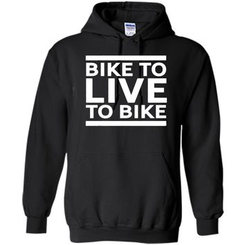 Bike To Live - Live to Bike Cycling T-shirt with Quote Print cool shirt