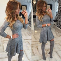 2016 Sexy Slim Erotic Casual Party Playsuit Clubwear Bodycon Boho Dress _ 8739