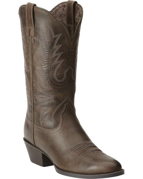 ariat heritage western chocolate brown from sheplers boots