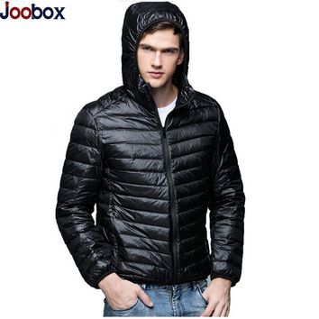 New 2017 Autumn Winter Men White Duck Down Jacket Ultra Light ultralight down jacket Outerwear Coat Thin Lightweight Parkas Male