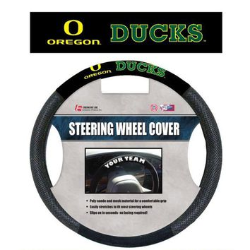 DCCKG8Q NCAA Oregon Ducks Poly-Suede Steering Wheel Cover