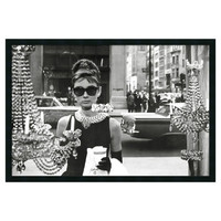 "Amanti Art ""Audrey Hepburn, Breakfast at Tiffany's (Window)"" Framed Photographic Print"