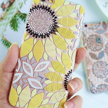 Cute Yellow Sunflower iPhone 7 7 Plus & iPhone 6 6s Plus & iPhone 5s se Case Cover with Gift Box-472