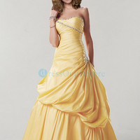 Sweetheart Flower Ruched Hand Made Evening dress 2012 : dressoutletstore.co.uk, Wedding Dresses Outlet