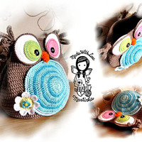 Crochet PATTERN, Bag Jolly Owl, Purse, Hand Bag, DIY Pattern 28