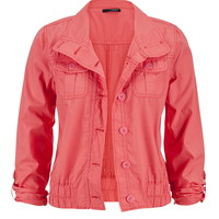 Crop Jacket With Pockets