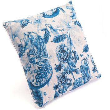 Blue & Natural Ramo Pillow