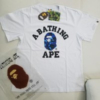 cc spbest A Bathing Ape College Tee Blue Camo (White)