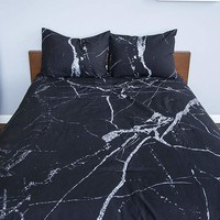 LEISURE SOCIETY Marble Twin Comforter Set | Pillows + Bedding