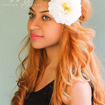 Ivory Wedding Flower Crown Headband Flower Crown Rose Boho Headband Floral Crown Headpiece