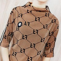 Fendi New fashion more letter print women top
