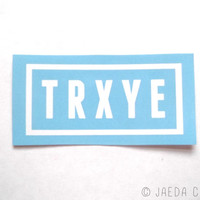 Troye Sivan 'TRXYE' Logo Merch Sticker
